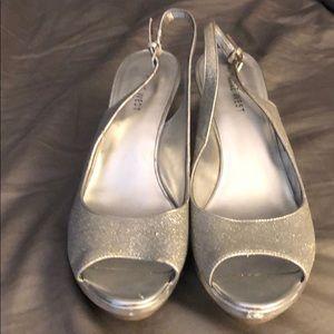 Gently used Nine West sparkly heels